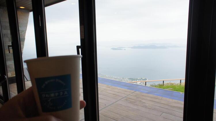 テラスカフェ 中からの景色