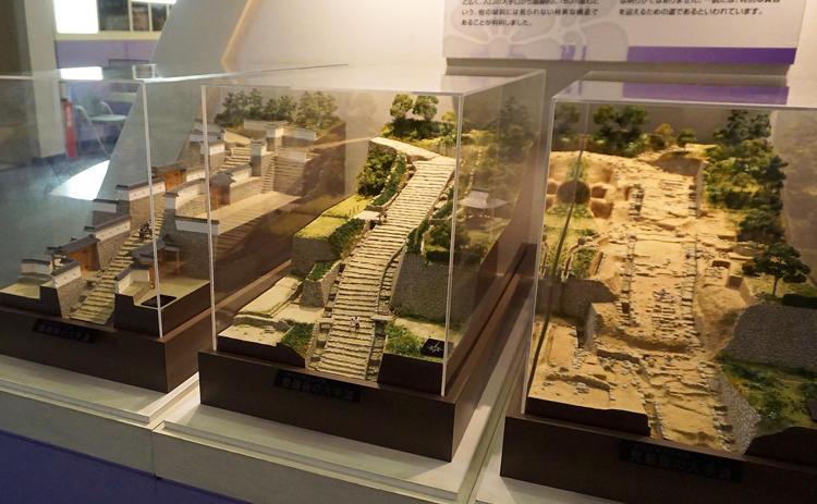 安土城跡の大手道