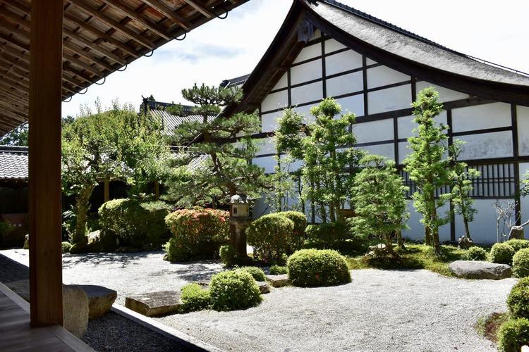 西教寺本堂庭