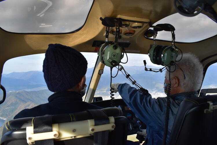 ヘリコプター内装